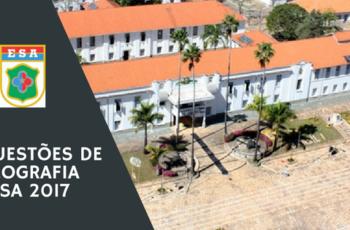 Questões Geografia Urbana EsSA 2017