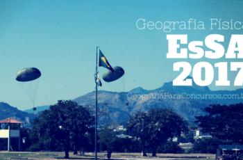Questões de relevo e hidrografia – EsSA 2017