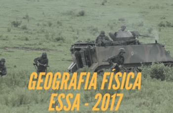 Questões anteriores de Geografia EsSA 2017 – Geografia Física