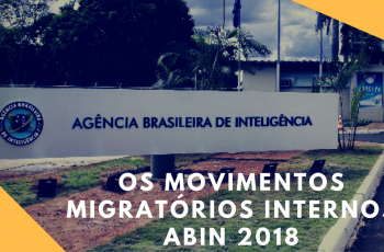 Aula de Geografia ABIN 2018 – Os Movimentos Migratórios Internos