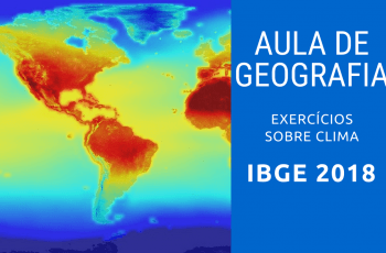 IBGE 2018 Aula sobre Clima Resolução de Exercícios